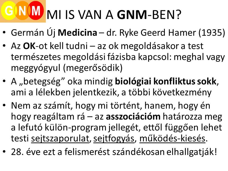 MI IS VAN A GNM-BEN Germán Új Medicina – dr. Ryke Geerd Hamer (1935)