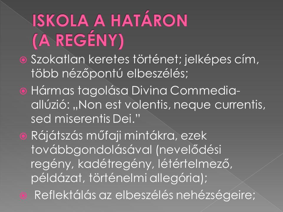 ISKOLA A HATÁRON (A REGÉNY)