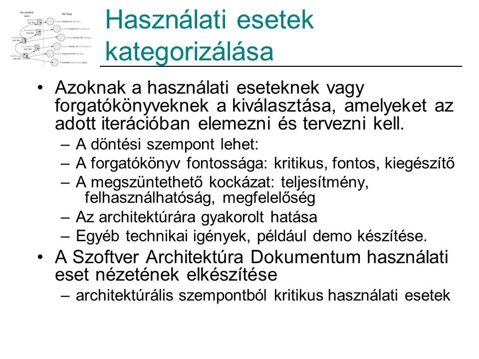 Használati esetek kategorizálása