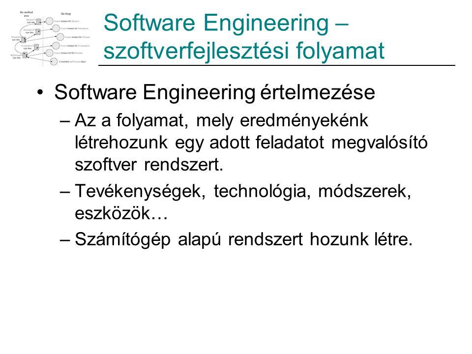 Software Engineering – szoftverfejlesztési folyamat