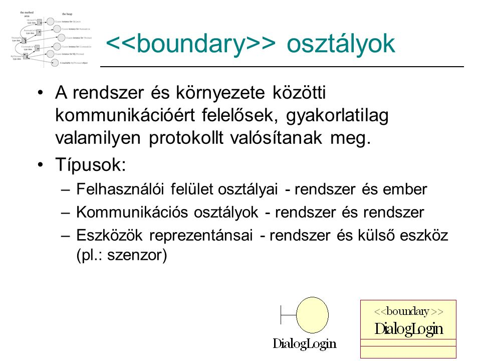 <<boundary>> osztályok