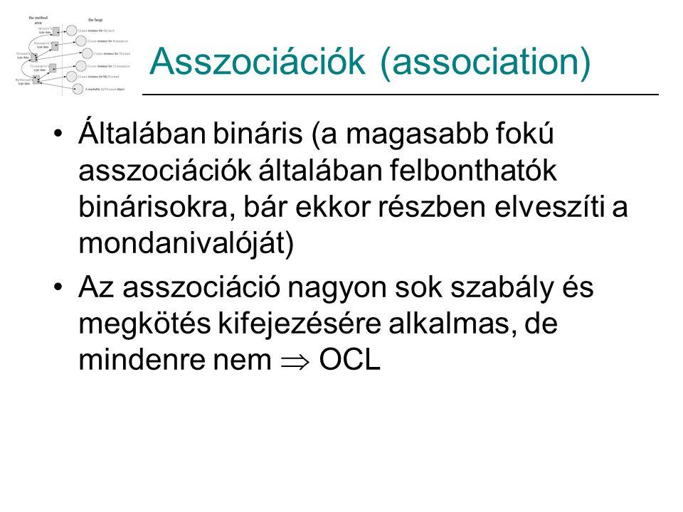 Asszociációk (association)
