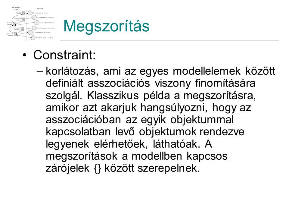 Megszorítás Constraint: