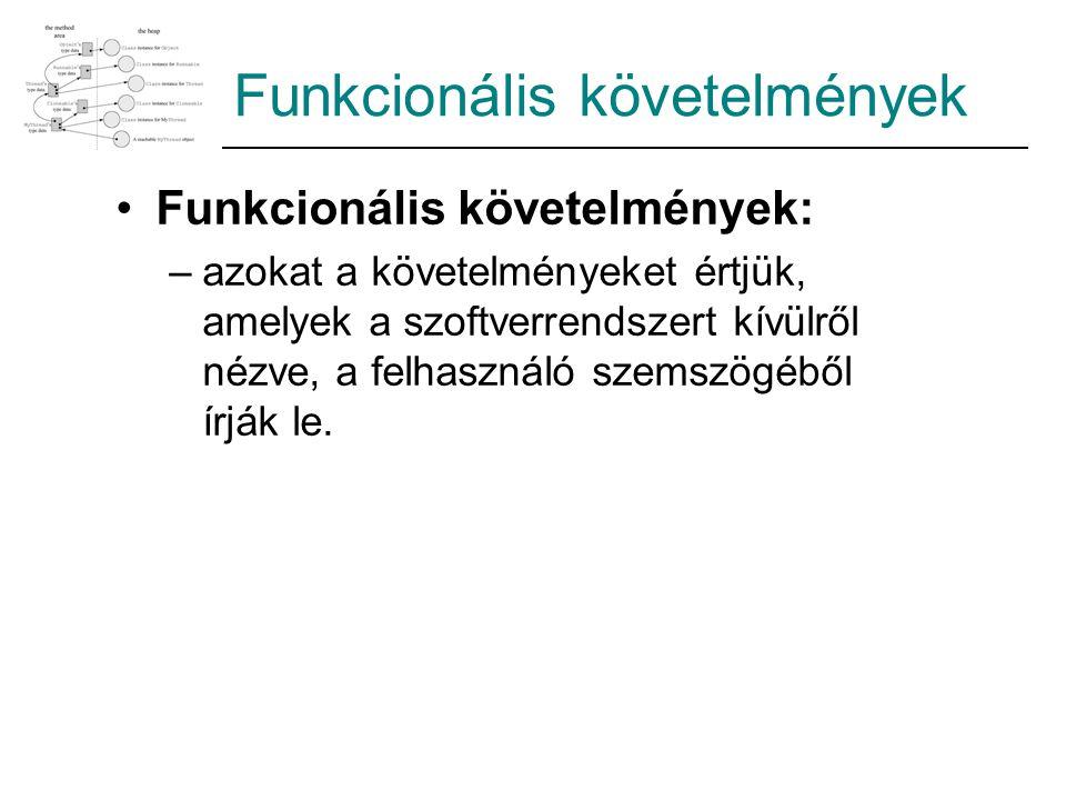 Funkcionális követelmények