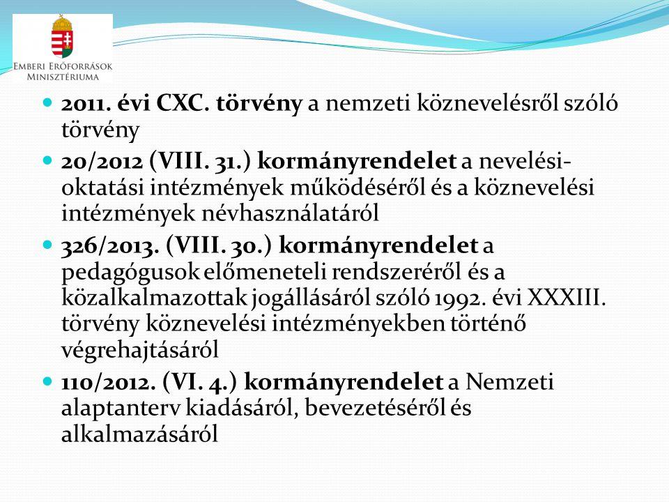 2011. évi CXC. törvény a nemzeti köznevelésről szóló törvény