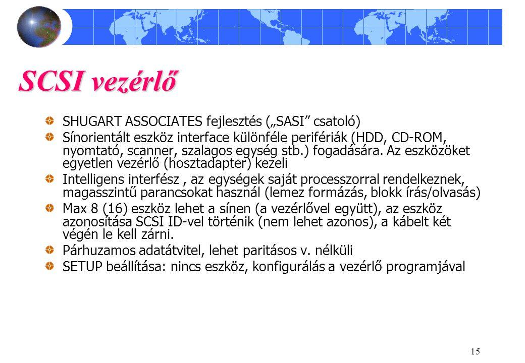 """SCSI vezérlő SHUGART ASSOCIATES fejlesztés (""""SASI csatoló)"""