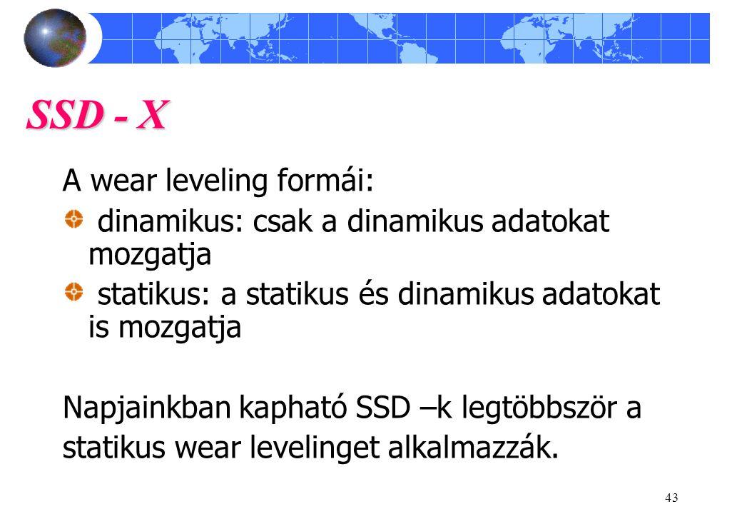 SSD - X A wear leveling formái: