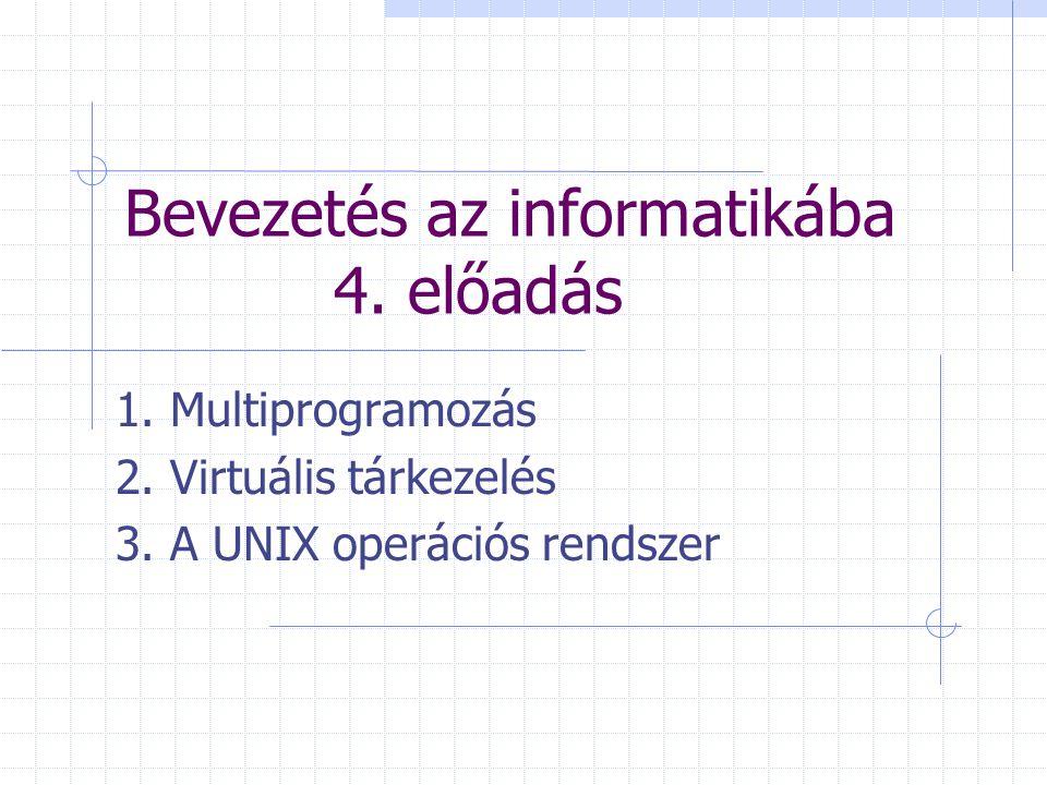 Bevezetés az informatikába 4. előadás