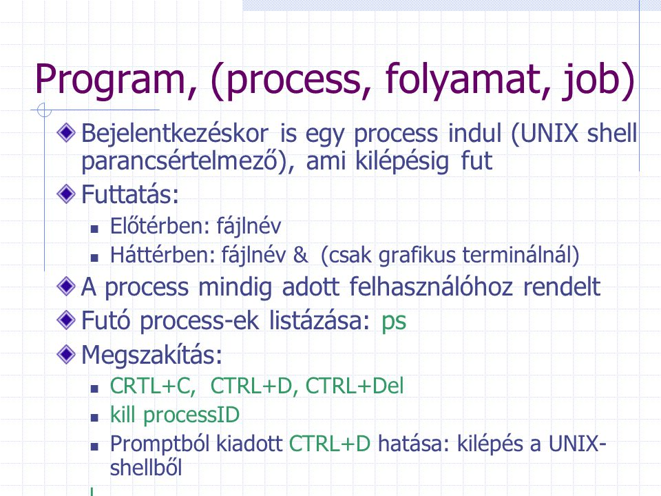 Program, (process, folyamat, job)