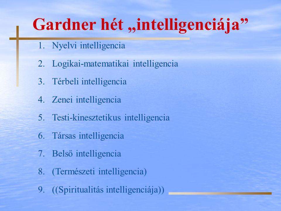 "Gardner hét ""intelligenciája"