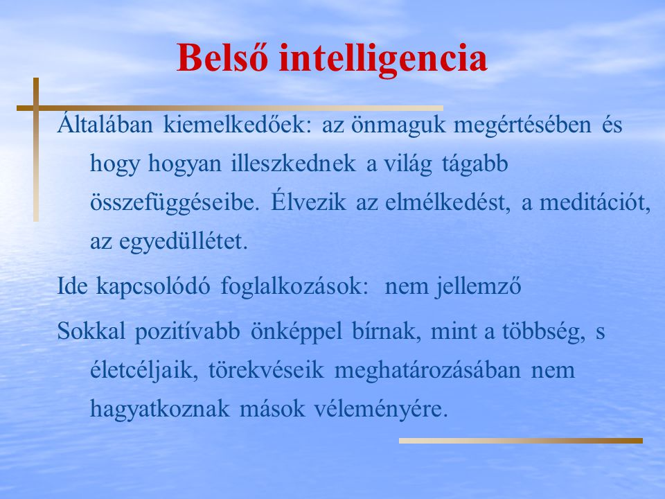 Belső intelligencia