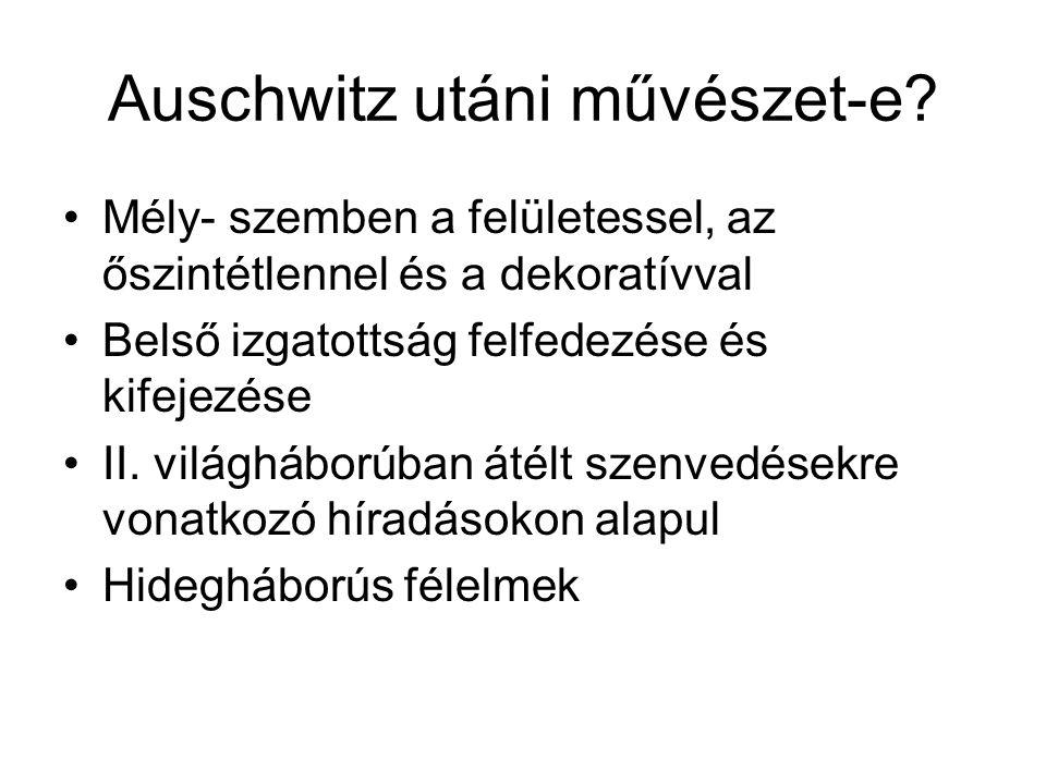Auschwitz utáni művészet-e