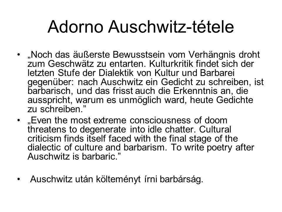 Adorno Auschwitz-tétele