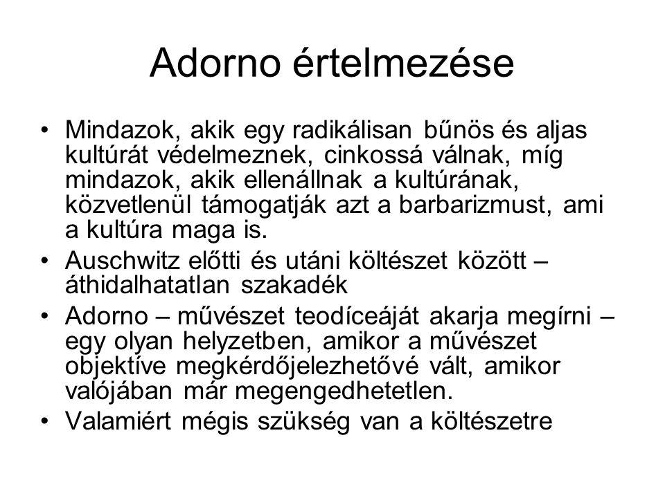 Adorno értelmezése