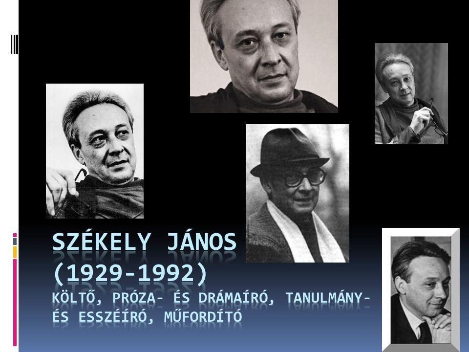 SZÉKELY JÁNOS (1929-1992) költő, próza- és drámaíró, tanulmány- és esszéíró, műfordító