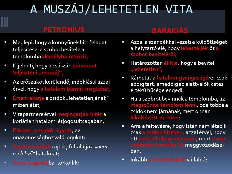 A MUSZÁJ/LEHETETLEN VITA