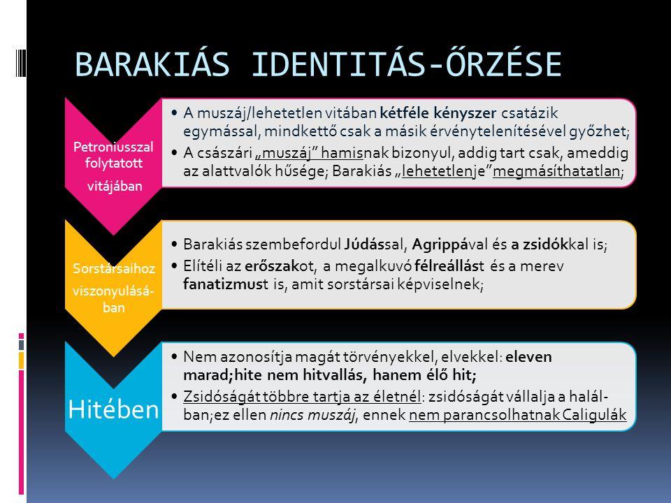 BARAKIÁS IDENTITÁS-ŐRZÉSE