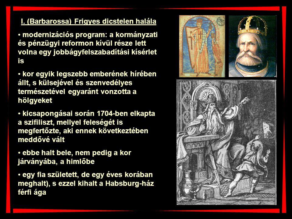 I. (Barbarossa) Frigyes dicstelen halála