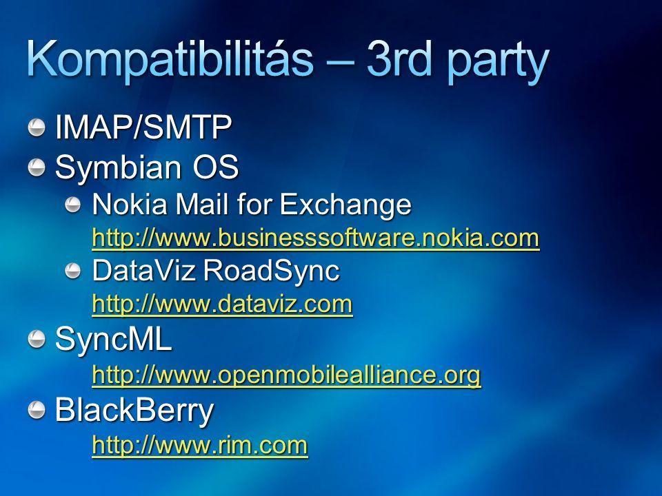 Kompatibilitás – 3rd party