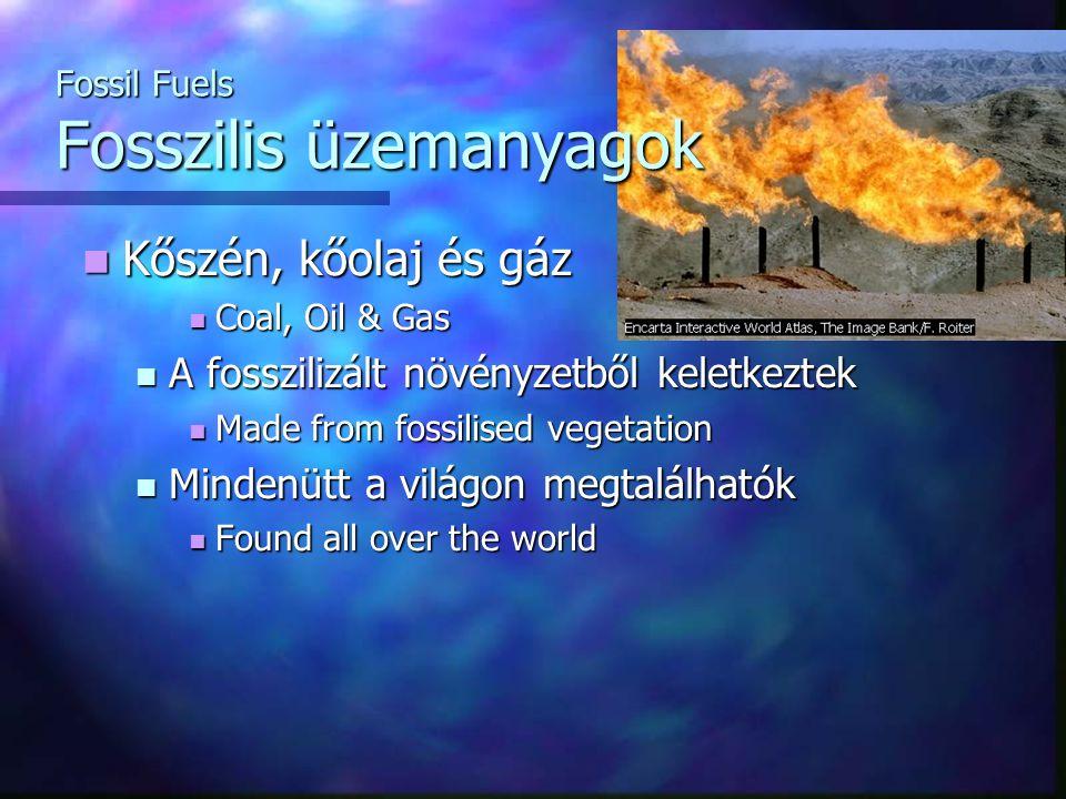 Fossil Fuels Fosszilis üzemanyagok