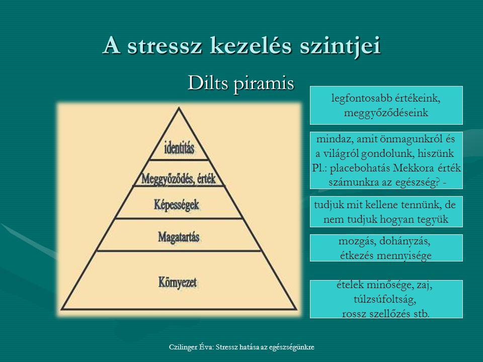 A stressz kezelés szintjei