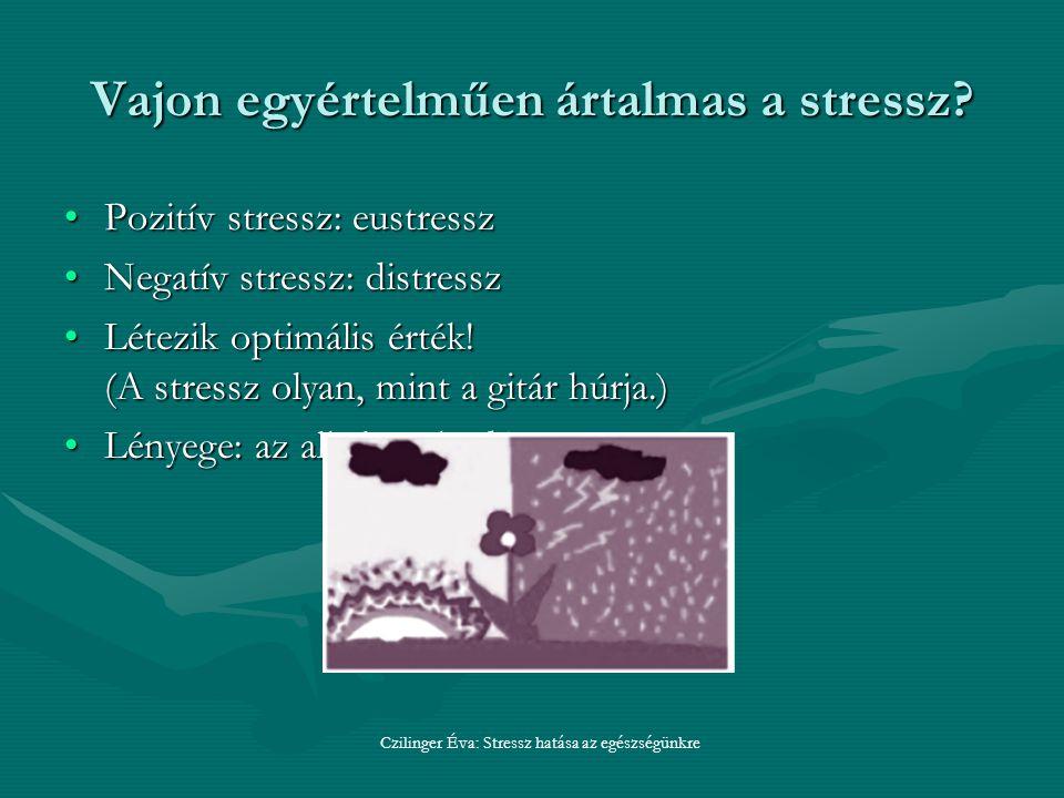 Vajon egyértelműen ártalmas a stressz