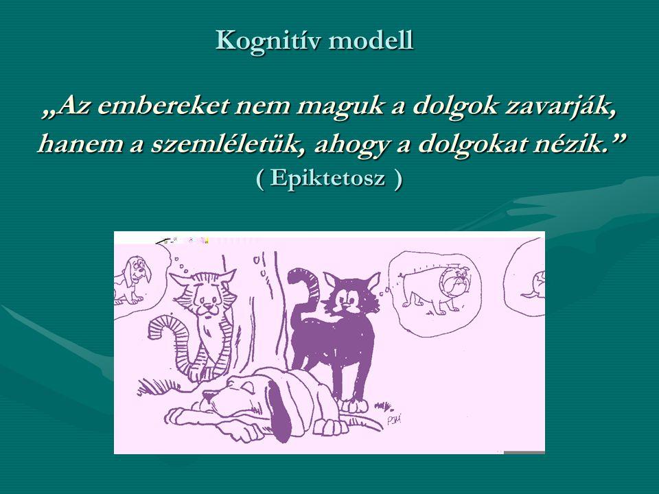 """Kognitív modell """"Az embereket nem maguk a dolgok zavarják, hanem a szemléletük, ahogy a dolgokat nézik. ( Epiktetosz )"""