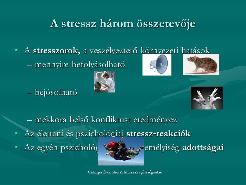 A stressz három összetevője