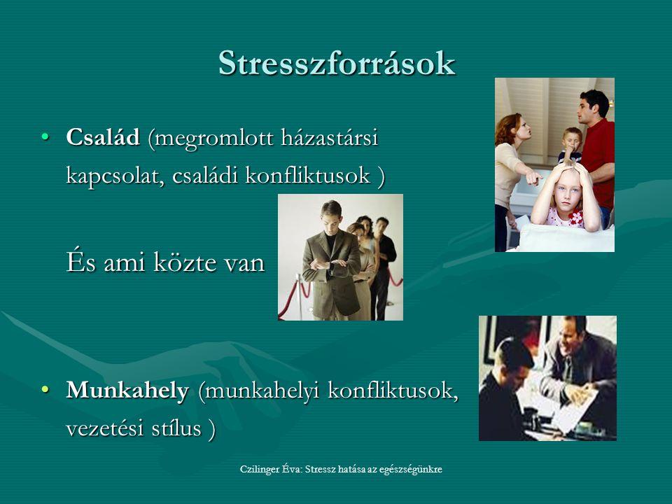 Czilinger Éva: Stressz hatása az egészségünkre