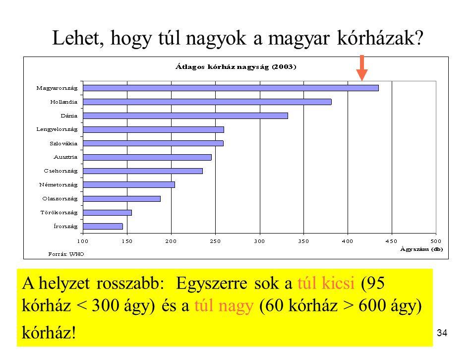 Lehet, hogy túl nagyok a magyar kórházak