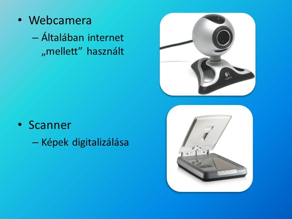 """Webcamera Scanner Általában internet """"mellett használt"""