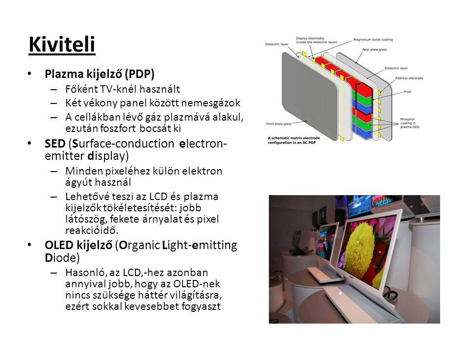 Kiviteli Plazma kijelző (PDP)