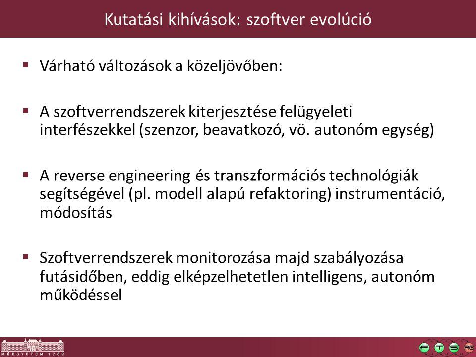 Kutatási kihívások: szoftver evolúció