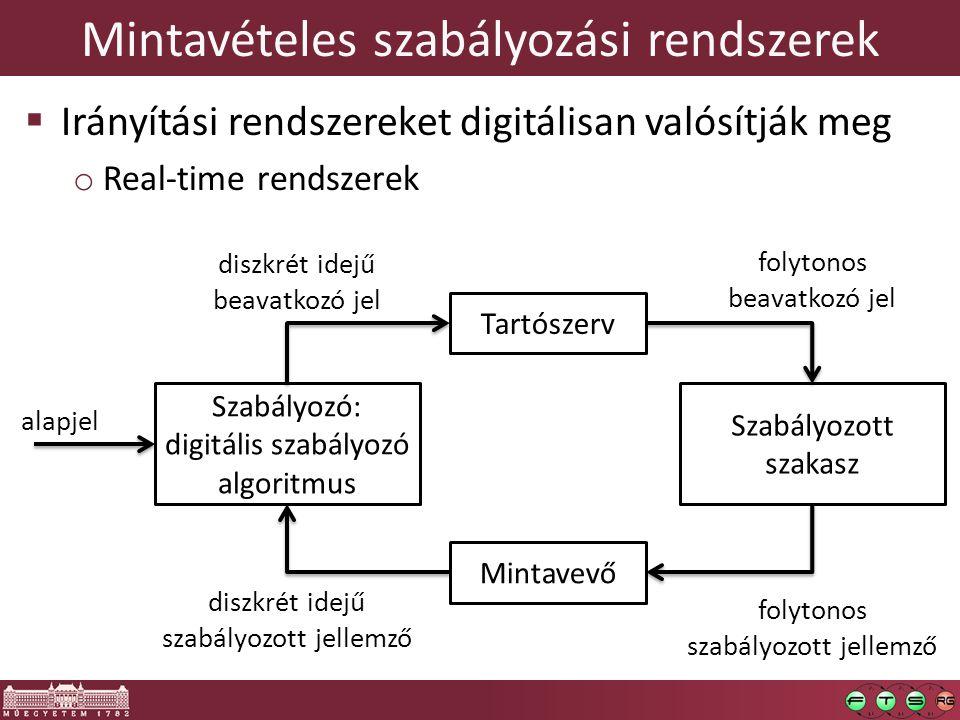 Mintavételes szabályozási rendszerek