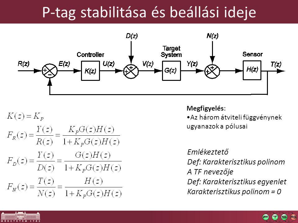 P-tag stabilitása és beállási ideje
