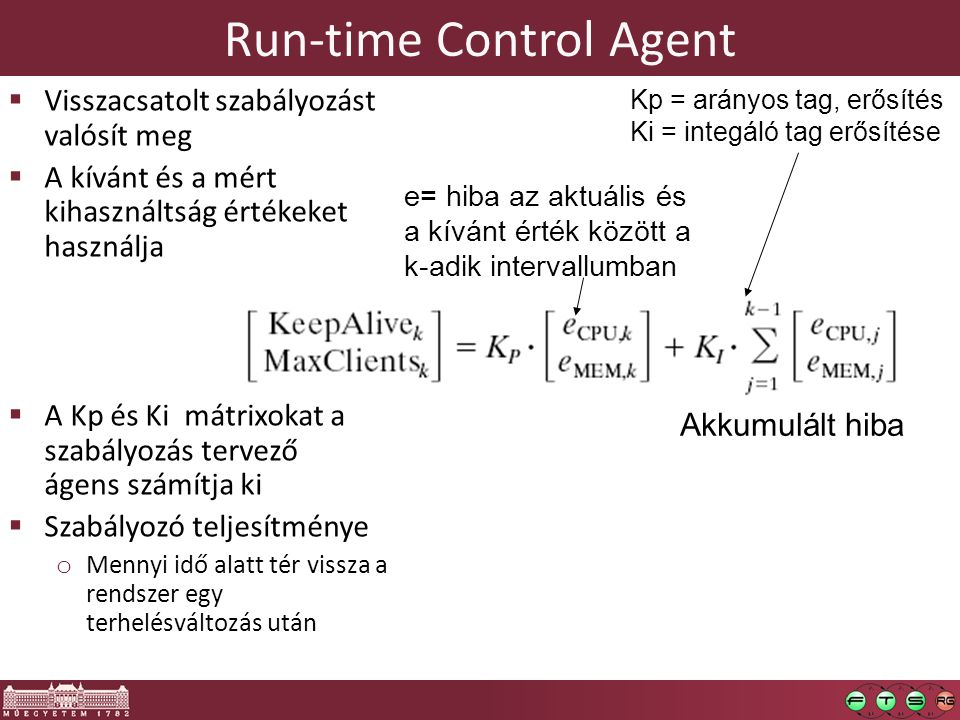 Run-time Control Agent