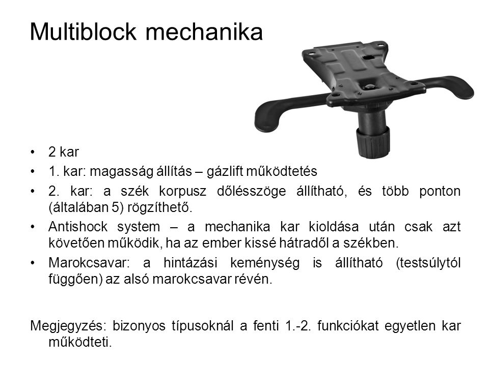 Multiblock mechanika 2 kar