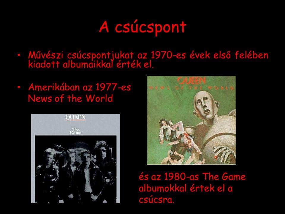 A csúcspont Művészi csúcspontjukat az 1970-es évek első felében kiadott albumaikkal érték el. Amerikában az 1977-es.