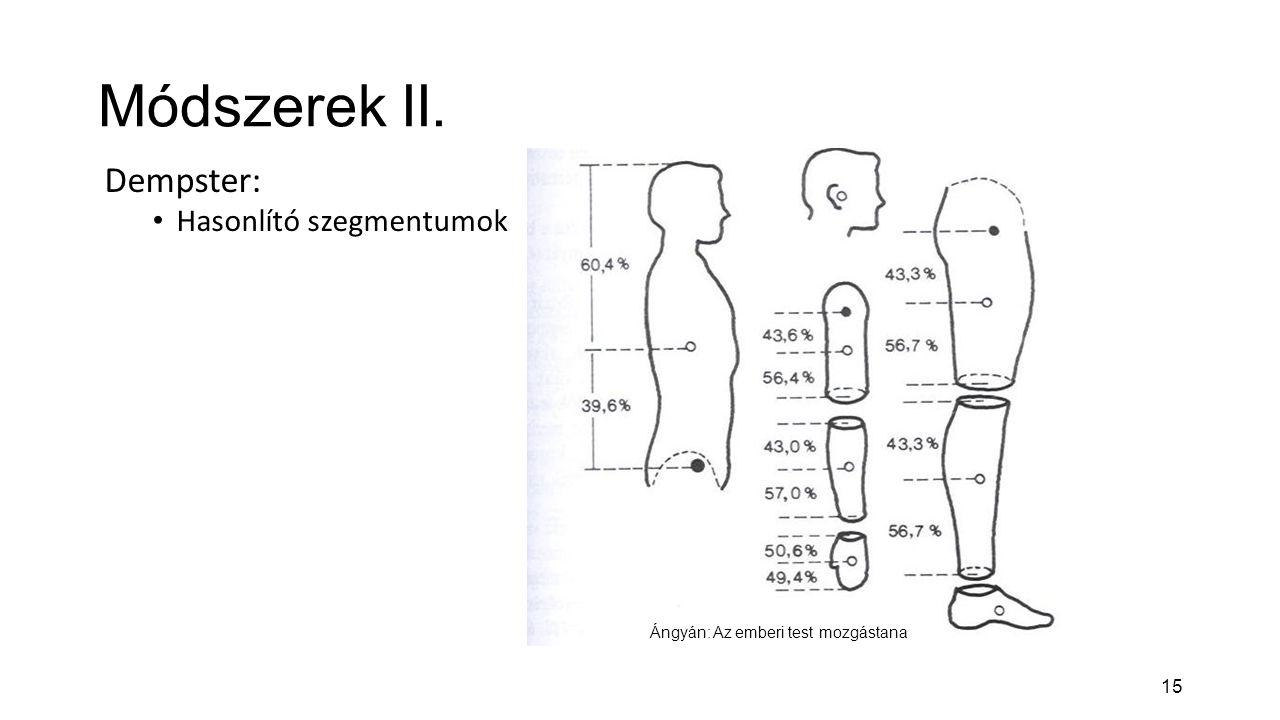 Módszerek II. Dempster: Hasonlító szegmentumok