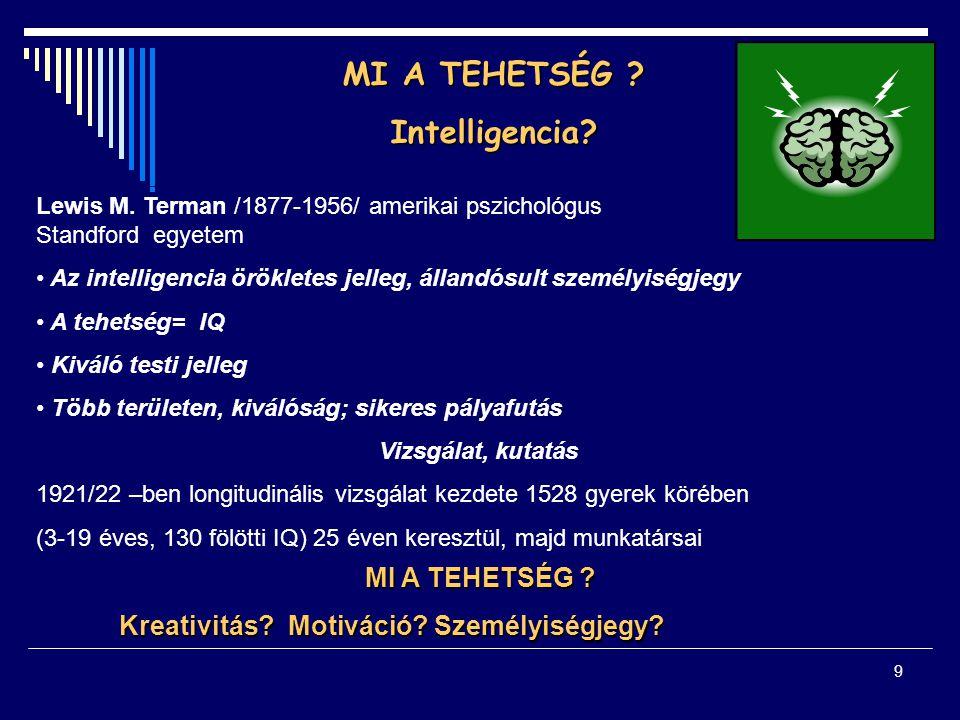 MI A TEHETSÉG Intelligencia