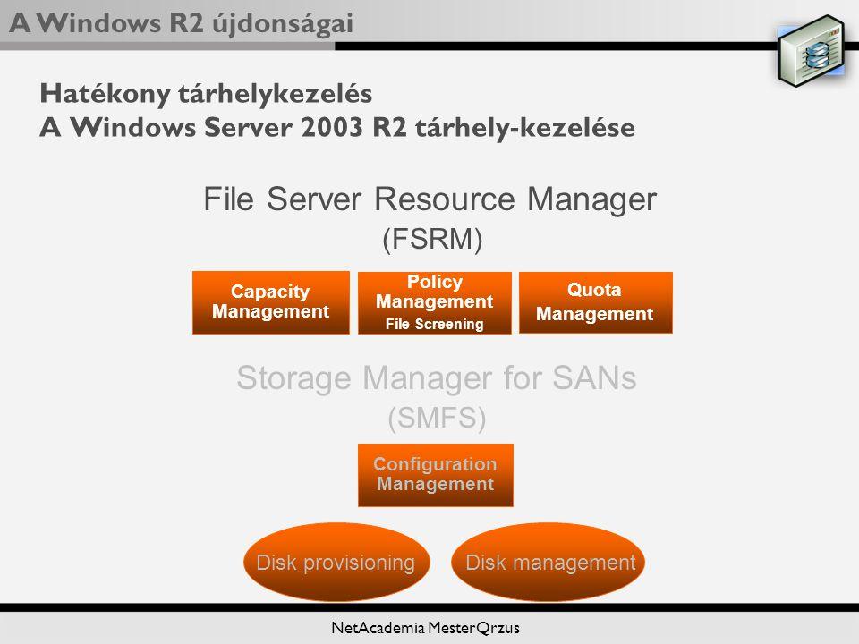 Hatékony tárhelykezelés A Windows Server 2003 R2 tárhely-kezelése