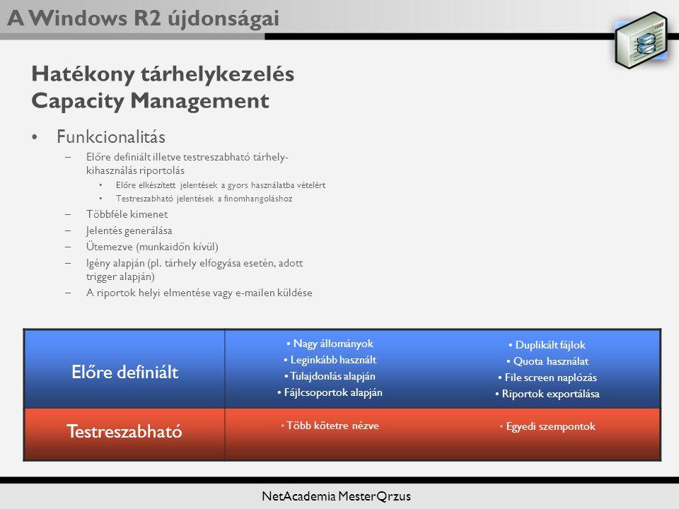 Hatékony tárhelykezelés Capacity Management