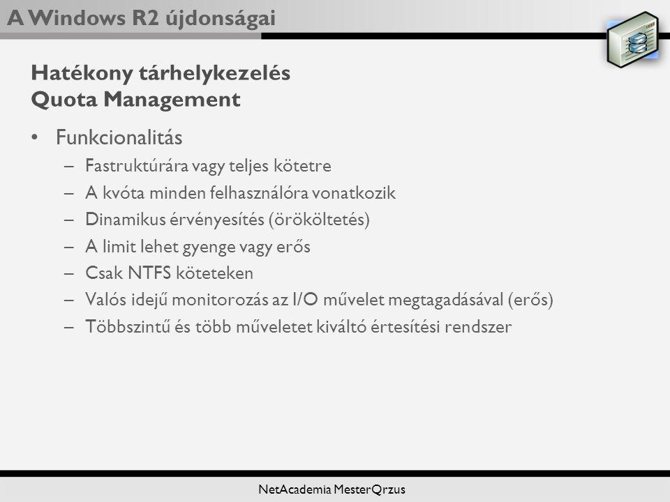 Hatékony tárhelykezelés Quota Management