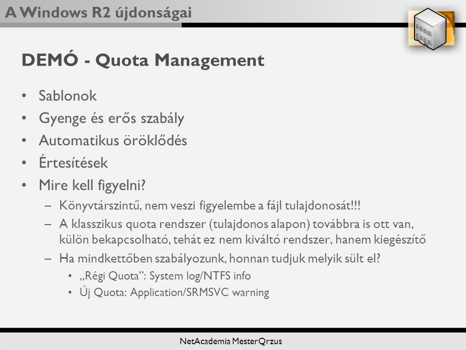 DEMÓ - Quota Management