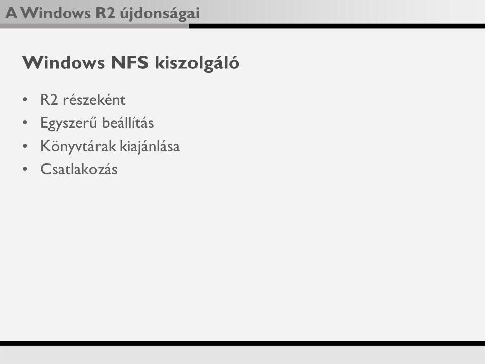 Windows NFS kiszolgáló