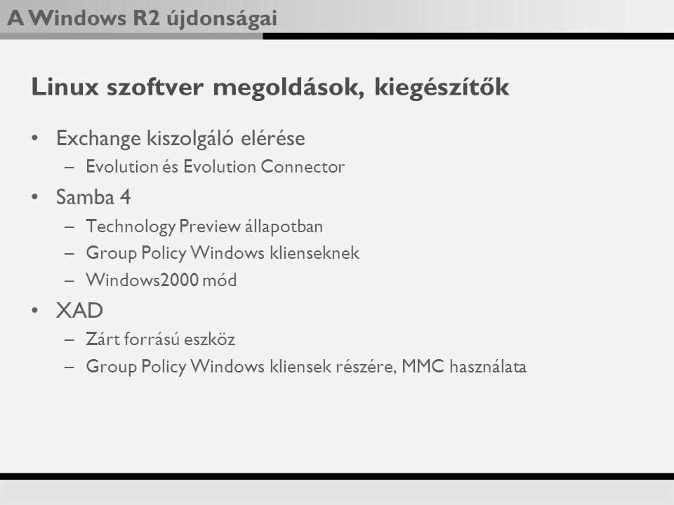 Linux szoftver megoldások, kiegészítők