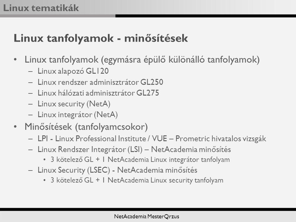 Linux tanfolyamok - minősítések