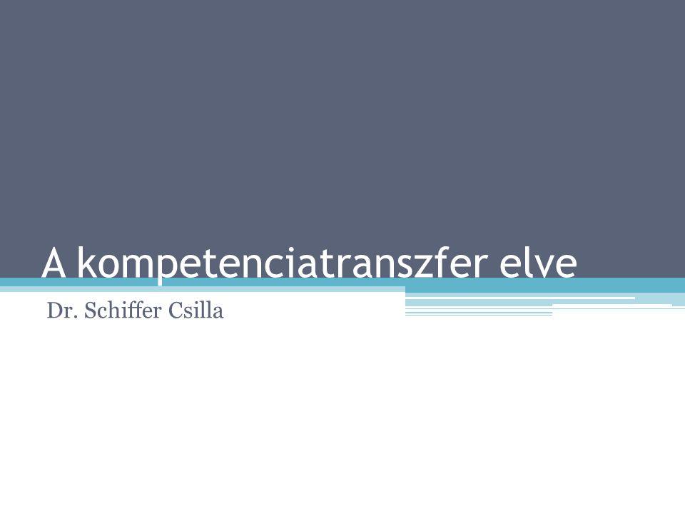 A kompetenciatranszfer elve