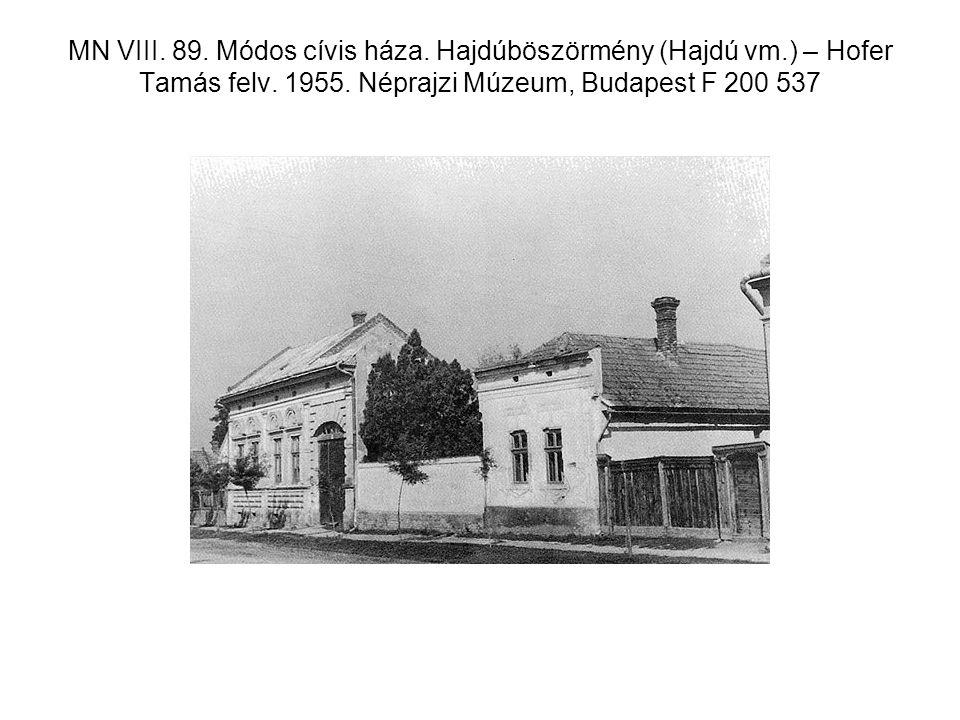 MN VIII. 89. Módos cívis háza. Hajdúböszörmény (Hajdú vm
