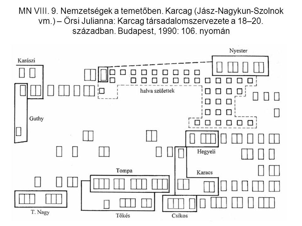 MN VIII. 9. Nemzetségek a temetőben. Karcag (Jász-Nagykun-Szolnok vm
